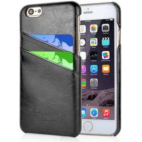 Fashion Leather Cover til iPhone 6 / iPhone 6S - Sort / Grå