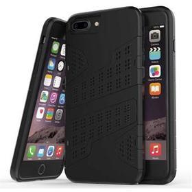 Mili camouflage cover til iPhone 7 Plus / iPhone 8 Plus - Sort