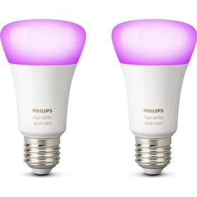 Philips Hue White And Color Ambiance LED Lamp 10W E27 2 Pack