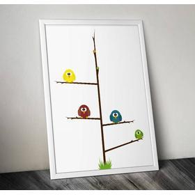 The Fashion Room Poster till barnrummet - The Chickens - A4