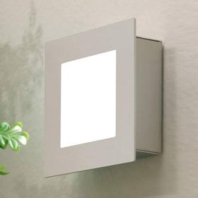 HEIBI Udendørs MIRTEL LED-væglampe i stål og varmhvid