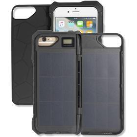iPhone 6 / 6s 4smarts MIAMO Solar Power-Case 2.500mAh - Solcelle Cover - Sort