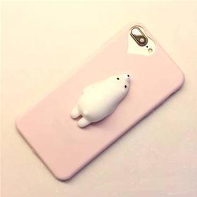 MOBILCOVERS.DK iPhone 6 / 6s Squishy Cover - Polar Bear Lyserød