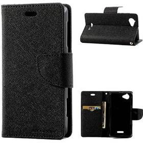 Sony Xperia L Wallet Etui Sort / Sort Spænde