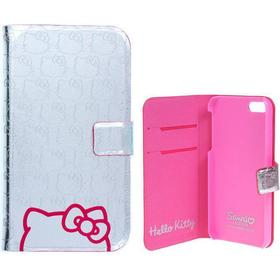 Hello Kitty iPhone SE / 5 / 5s HELLO KITTY Etui m. Pung Sølv