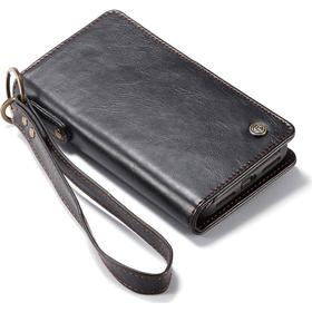 iPhone X / Xs CASEME Split Leather Cover m. Pung Sort