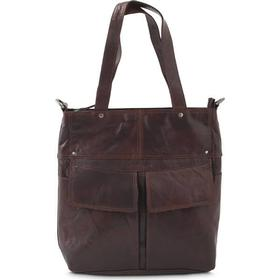 Spikes & Sparrow tote i skind brun