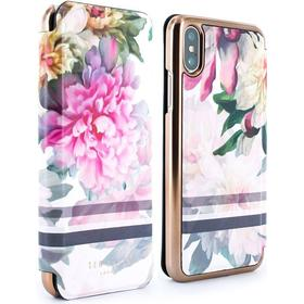 Ted Baker JUNE Mirror Folio Case for iPhone X - Painted Posie