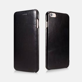 iPhone 6/6s - ICARER Vintage ægte læder cover - Sort