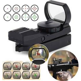 Excelvan Hunting Holographic Reflex Red Green Dot Sight Scope 20mm with 4 Reticles