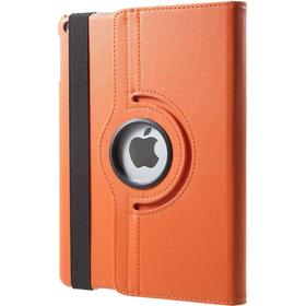 iPad Air 2 - 360 gr Roterende Læder Flip Cover - Orange