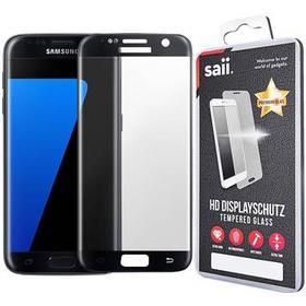 Saii 3D Curved Premium HD Samsung Galaxy S7 Edge Panserglas - Sort
