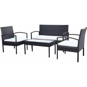vidaXL 42673 1 Table incl. 2 Chairs Lounge Group Loungesæt, 1 borde inkl. 2 stole & 1 sofaer