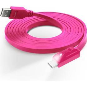 Naztech USB-C Kabel med Lys - Pink