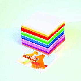 Efco Ark för vikning - Tangrami 7,5 x 7,5 - 500 ark / 70 g / m² 10 färger / blandade