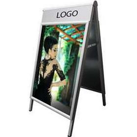 DisplayLager A-skilte, Alu-Line logo change til 70x100 cm plakater, Sølv