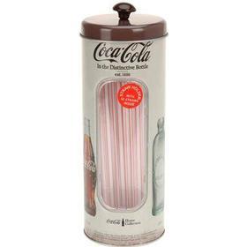 Sugerørsdåse med billeder af gamle Coca Cola flasker