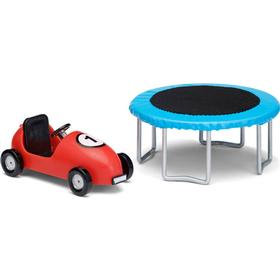 Lundby Småland dukkehustilbehør, trampolin og bil