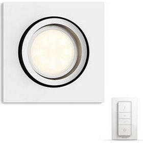 Philips Hue Millskin Spot Square White 230V With Remote (5042131P7)