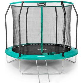 Duplay Ultimate 8Ft Trampoline With Enclosure Safety Net Steel Frame Uv Jump Mat And Ladder