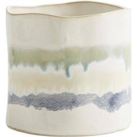 ART urtepotte i keramik - ø13 cm - hvid