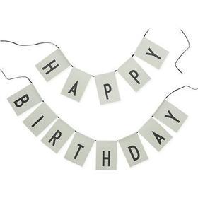 DESIGNLETTERS Design Letters Vimpel Happy Birthday - Grön, 8 på lager