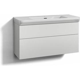 Tvättställsskåp Svedbergs Forma 100x35 Vit 2 Lådor Eluttag