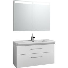Svedbergs Forma Möbelpaket m. spegelskåp 100 Delad front