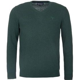 Barbour M's Pima Cotton V-neck Racing Green