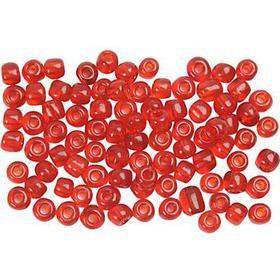 Övriga Tillverkare Seed Beads 4 mm - Klarröd - 25 gram