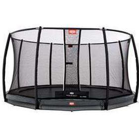 Berg trampolin med net - Champion Inground - Ø 330 cm Optimal hoppeoplevelse - Inkl Deluxe sikkerhedsnet og Twinspringfjedre