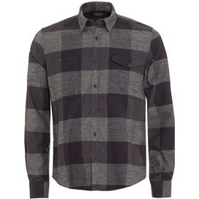Barbour International Triumph Mens Combustion Checkered Grey Shirt