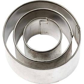 Kakformar Cirkel största mått 40x40 mm 3 st