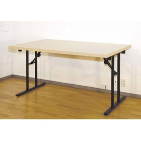 Konferensbord, rektangulärt, 190 x 80 x 74 cm, laminat, björk och svart