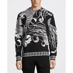 Versace Collection Mönstrad Sweatshirt Svart