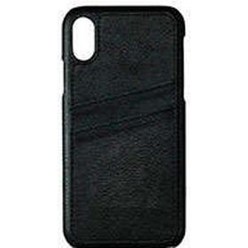 iPhone X Cover - Dual Læder (2 Kort) Sort - Essentials