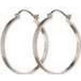 Pernille Corydon Plain Creol Silver Earrings (E-100-S)