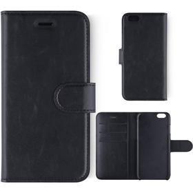 KEY Core Collection iPhone 6 / 6s Læder Cover m. Pung Sort