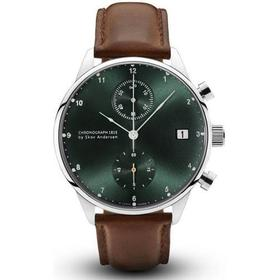 About Vintage 1815 Chronograph Steel/Green Sunray