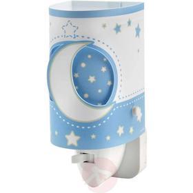 Dalber LED-nattlampa för spädbarn, ljusblå