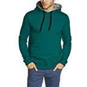 Björkvin - Men's Hooded Pullover with Modish M Hood Green Storm Size:S