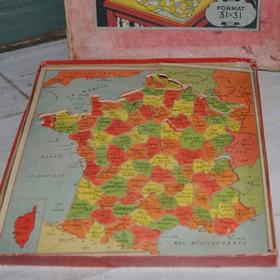 Gammelt træ puslespil af Frankrigs Regioner