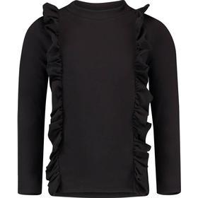 Vingino sort bluse med flæser