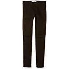 New Look 915 Girl's Double Knee Slash Disco Jeans, Black, 13 Years