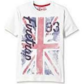 Firetrap Boy's Union Jack T-Shirt, White (Bright White), 2-3 Years