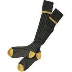 Barbour Socks Contrast Stocking Gun Socks, Olive / Gold, Small