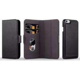 iPhone X Flip cover i sort fashion leather look(Black)
