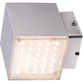 LED-udendørs vægbelysning Heitronic Kubus 7 W 341 lm Varm hvid Rustfrit stål