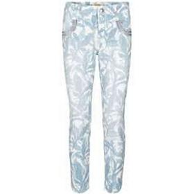 Mos Mosh Naomi Leaves 7/8 Pant Indigo Blue Printed (123010)
