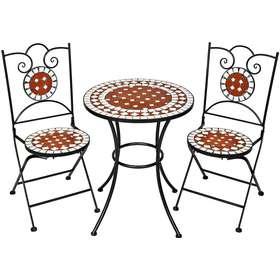 Modernistisk Cafesæt bord 2 stole havemøbler - Sammenlign priser hos PriceRunner NG02